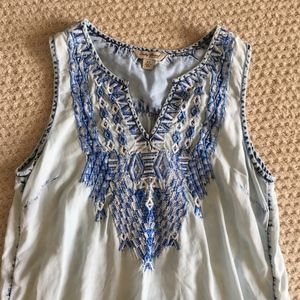Lucky Brand Embroidered Shirt